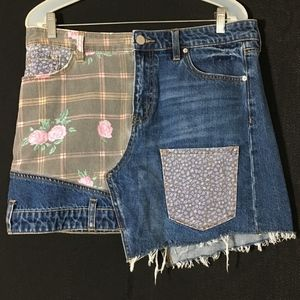 Urban Outfitters BDG Floral Patchwork Denim Skirt